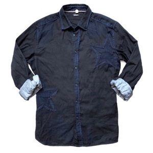 *NWOT Diesel Dark Wash Denim Button Up Shirt